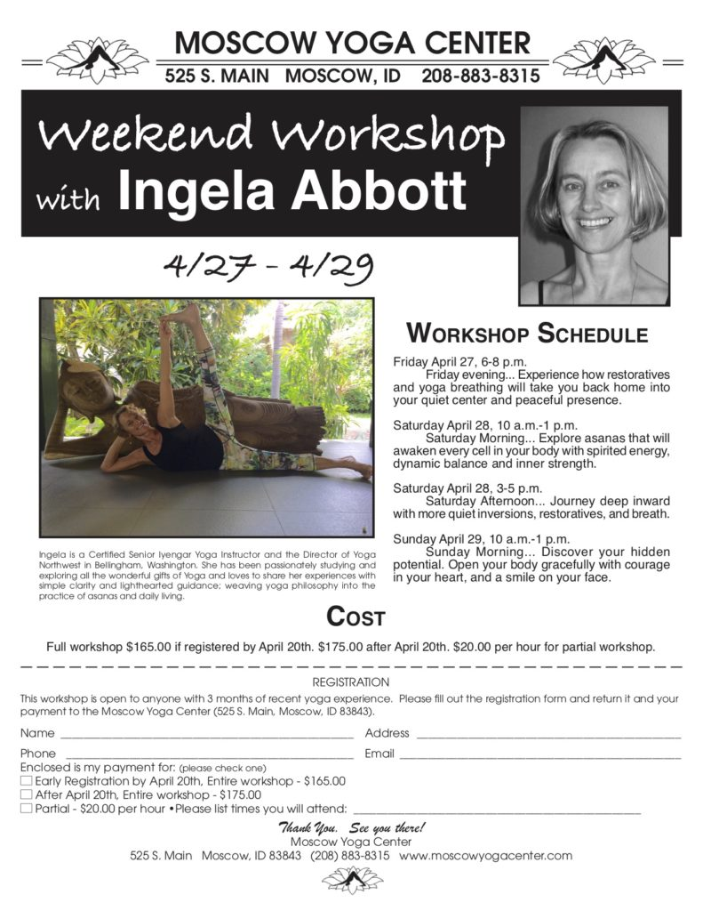 Ingela Abbott Workshop 2018 Flyer